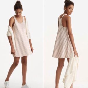 Lou & Grey A Line Swing Dress Small Red Stripes